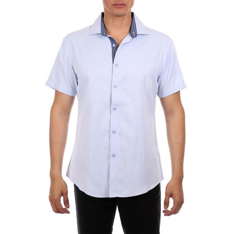 Marcus Short-Sleeve Button-Up Shirt // Blue (XS)