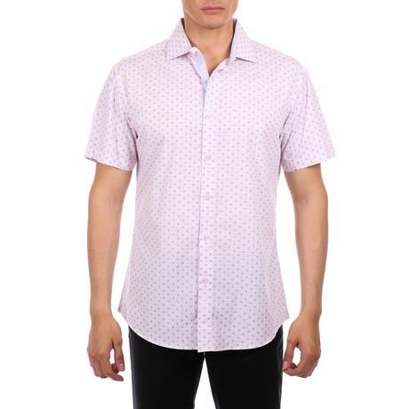 Yellowstone Short Sleeve Button-Up Shirt // Pink (XS)