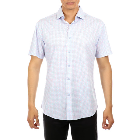 Yellowstone Short-Sleeve Button-Up Shirt // Blue (XS)