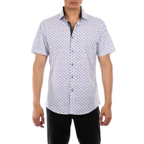 Ethan Short-Sleeve Button-Up Shirt // Blue (XS)