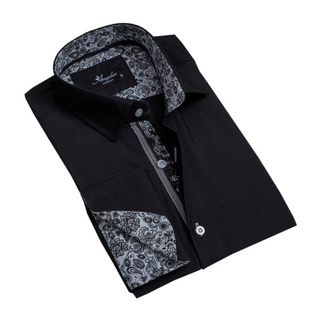 Amedeo Exclusive // Reversible Cuff French Cuff Dress Shirt // Black (S)