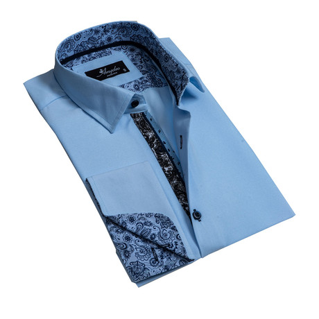 Reversible Cuff French Cuff Dress Shirt // Light Blue (S)