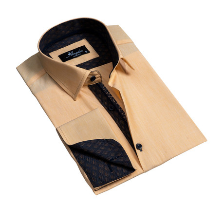 Reversible Cuff French Cuff Dress Shirt // Copper (S)