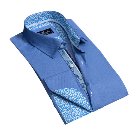 Reversible Cuff French Cuff Dress Shirt // Sky Blue (S)