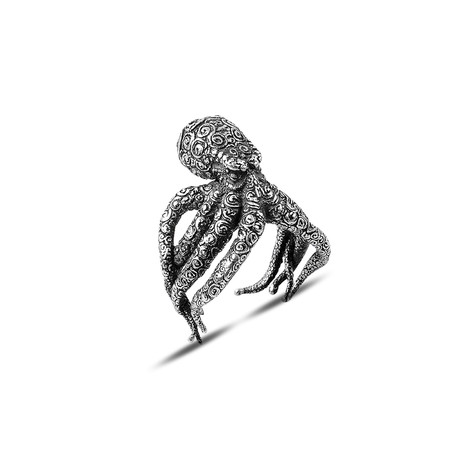 Octopus Ring // Silver (8)