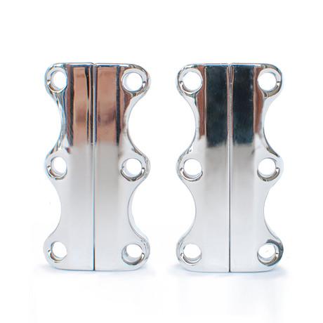 Zubits Magnetic Shoe Closures // Chrome (Size 1)