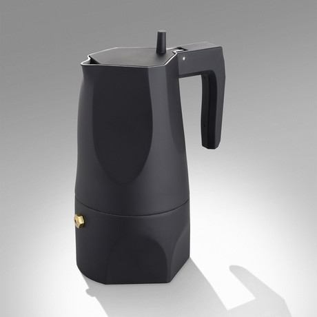 Ossidiana Espresso Coffee Maker // Black // 3 Cup