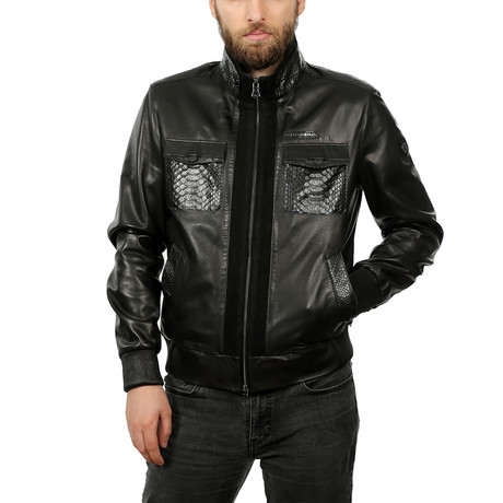 Milo Leather Jacket // Black (3XL)