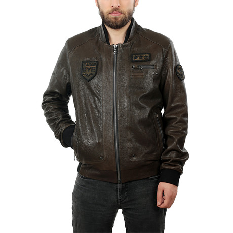 Carlo Leather Jacket // Chocolate Brown (XS)