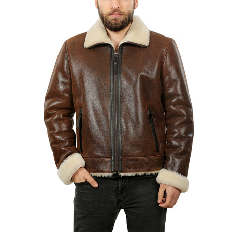 Hoff Leather Jacket // Whisky Brown (XS)