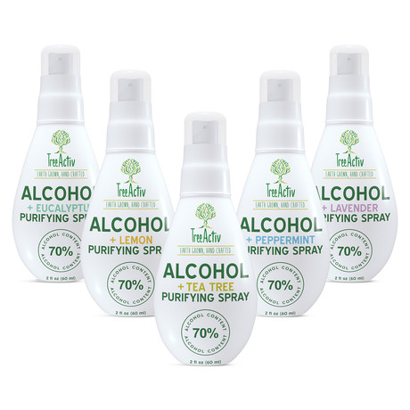 70% Alcohol + Essential Oil Purifying Spray // 2oz // 5 Pack