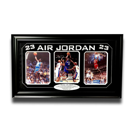 Michael Jordan // Signed + Framed Photo Collage // Bulls + Wizards + UNC