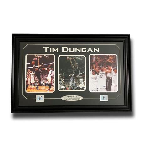 Tim Duncan // Signed + Framed San Antonio Spurs Triple Photo Collage