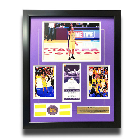 Kobe Bryant // Final Lakers Game Framed Confetti + Final Season Ticket Collage