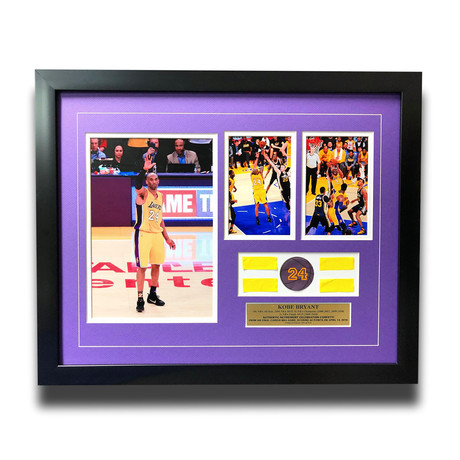 Kobe Bryant // Final Lakers Game Framed Confetti Collage