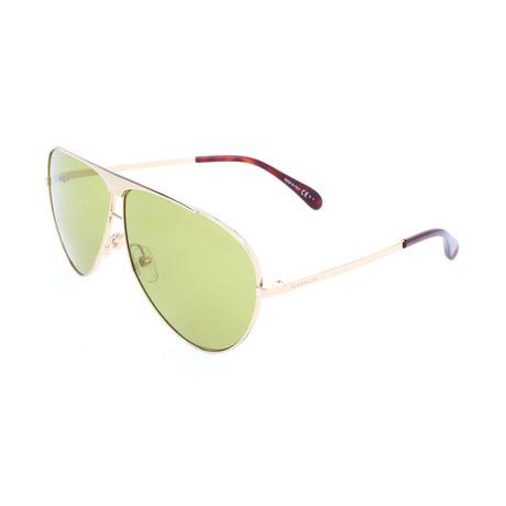 Unisex 7128 Sunglasses // Gold Green + Green