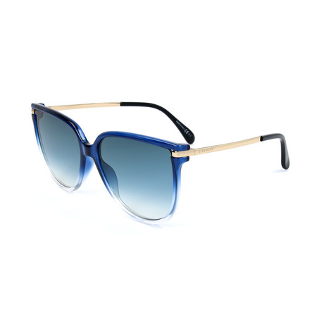 Givenchy // Women's 7131 Sunglasses // Blue Crystal + Dark Blue Shaded