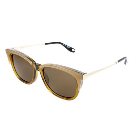 Women's 7072 Sunglasses // Yellow Green + Brown