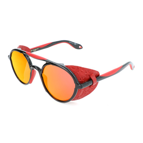 Unisex 7038 Sunglasses // Black + Red