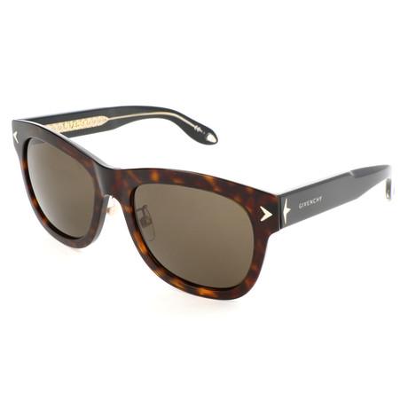 Men's 7047 Sunglasses // Havana Black Crystal + Brown Gray