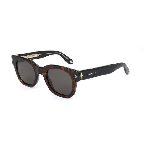 Unisex 7037 Sunglasses // Havana Black Crystal + Brown Gray