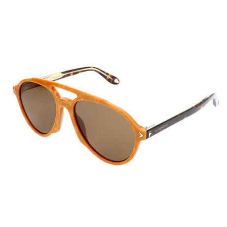 Men's 7076 Sunglasses // Beige Pattern + Brown