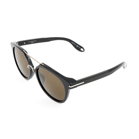 Men's 7034 Sunglasses // Black + Brown