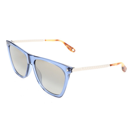 Women's 7096 Sunglasses // Blue + Light Gray + Gold Mirror Shaded
