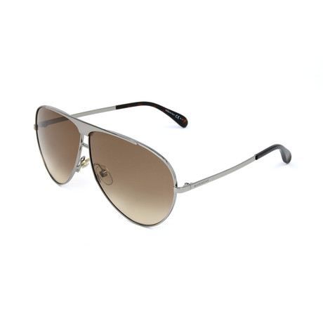 Givenchy // Unisex 7128 Sunglasses // Ruthenium + Brown Shaded