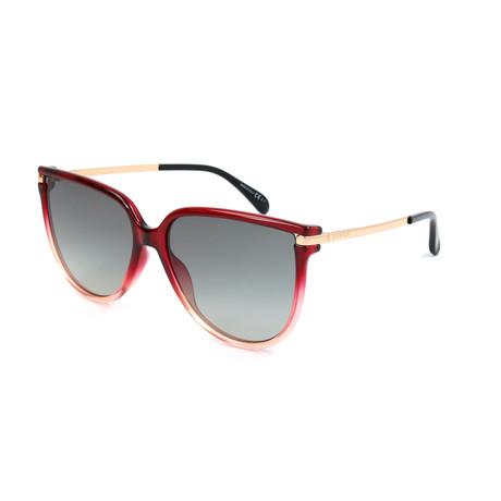 Women's 7131 Sunglasses // Red Pink + Dark Gray Shaded