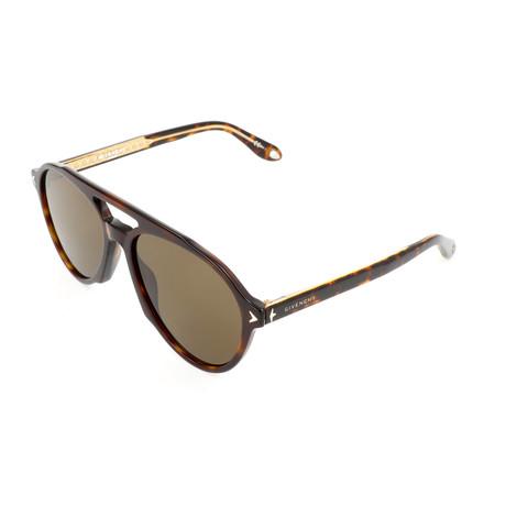Men's 7076 Sunglasses // Dark Havana + Brown