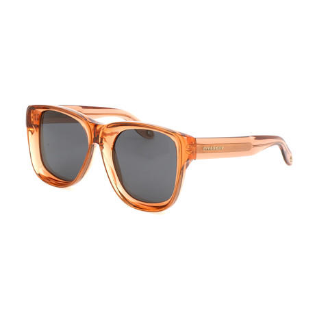 Unisex 7074 Sunglasses // Beige Opal Salmon + Gray