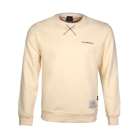 Basic Crew Neck Sweatshirt // Ecru (S)