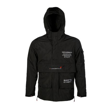 Outdoor Ultra Hooded Windbreaker // Black (S)