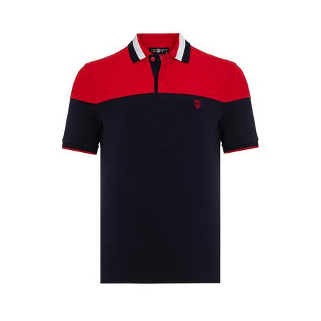Vedasto Short-Sleeve Polo // Navy (Small)