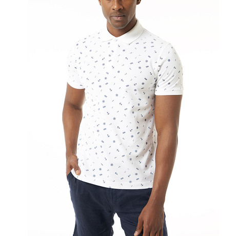 Venusta Short-Sleeve Polo // White (Small)