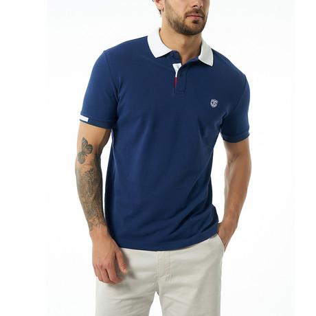 Cadmo Short-Sleeve Polo // Navy (Small)