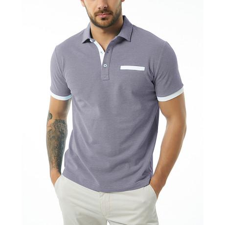 Brenno Short-Sleeve Polo // Navy (Small)