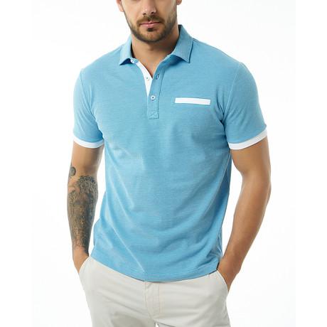Brenno Short-Sleeve Polo // Baby Blue (Small)