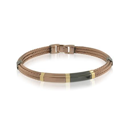 Cable Row Bracelet // Rose Gold + Gunmetal (XS)