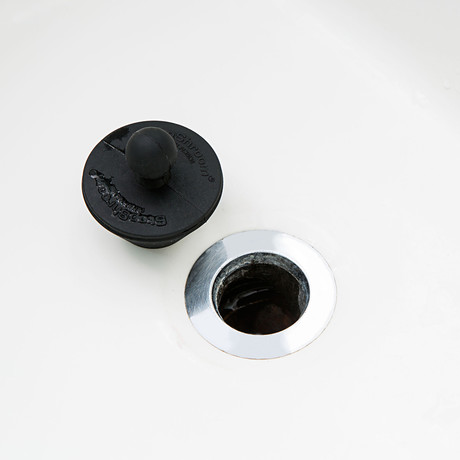 StopShroom Plug Black 2 Pack // Revolutionary Drain Stopper for Bathtub and Sink