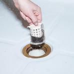 ShowerShroom White 2 Pack // Revolutionary Shower Stall Drain Protector Hair Catcher
