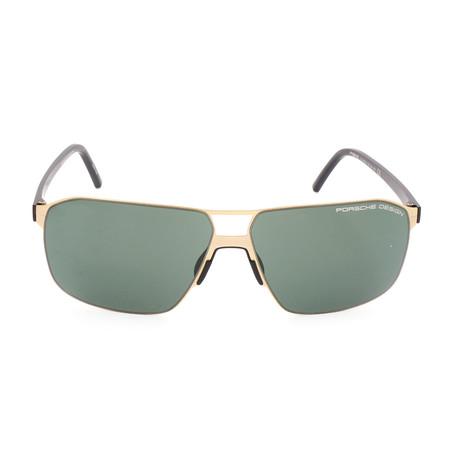 Men's P8645 Sunglasses // Gold + Green