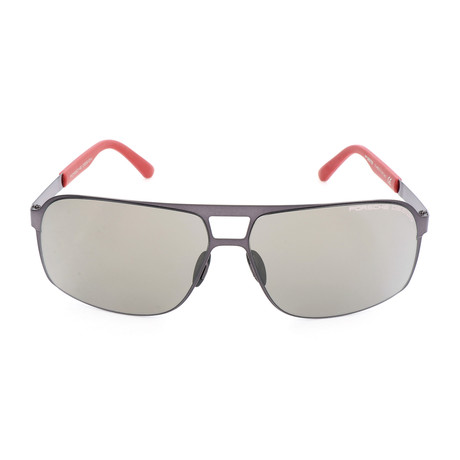 Men's P8579 Sunglasses // Gunmetal + Gray + Red