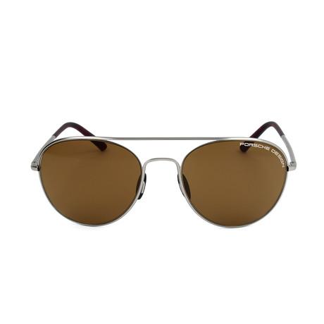 Unisex P8606 Sunglasses // Gray + Brown