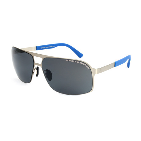 Men's P8579 Sunglasses // Palladium + Gray Blue