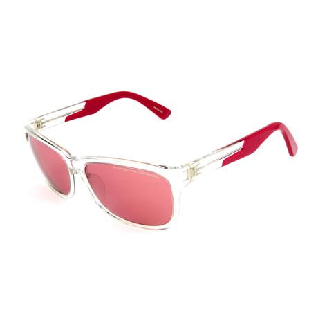 Men's P8907Sunglasses // Wine + Silver Mirror