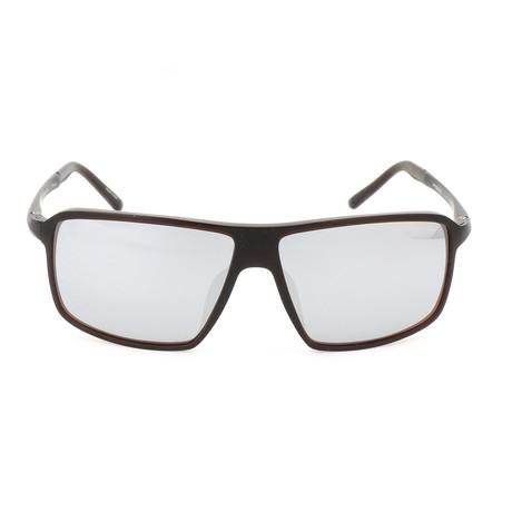 Men's P8650 Sunglasses // Brown + Mercury Mirror