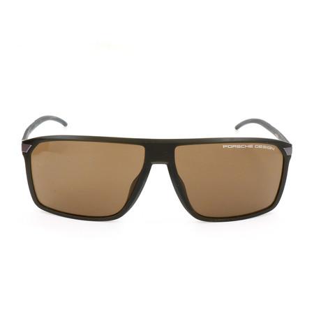 Men's P8653 Sunglasses // Olive + Brown