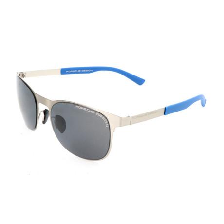 Men's P8578 Sunglasses // Silver + Gray Blue